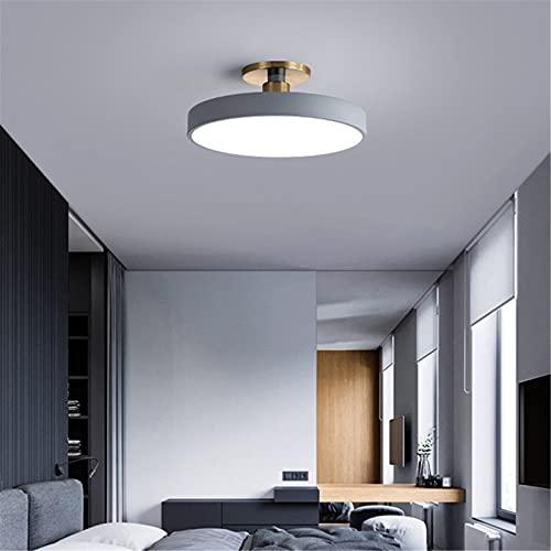 Plafón LED Moderno Lámpara De Techo Para Sala De Estar, 3000K-6000K Regulable Con Control Remoto, Lámpara Colgante De Metalica Acrílica Para Cuarto Comedor Oficina,Gray 40cm