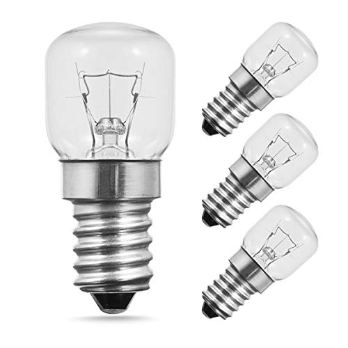 TECHGOMADE E14 Kleine Edison Screw Base, Ofen Glühbirnen, Wolframlicht, 25W Halogenlampe, 2700K Warmweiß, Nicht Dimmbar, 4er Pack