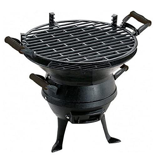 Koem Barbecue a carbonella portatile da tavolo con griglia di cottura in ghisa posizionabile a varie altezze