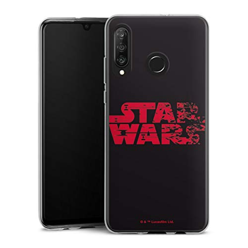 DeinDesign Silikon Hülle kompatibel mit Huawei P30 Lite Hülle transparent Handyhülle Star Wars Logo Fanartikel