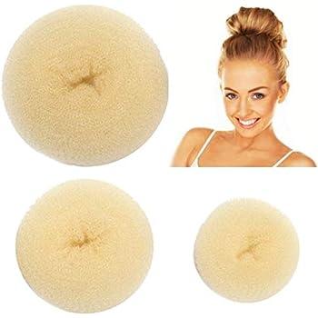 Styla Hair 3 Piece Donut Hair Bun Maker, (1 Small, 1 Medium, 1 Large) - Blonde