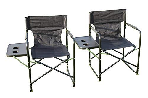 Garden Market Place Juego de 2 Plegables con Mesa Auxiliar, sillas de...