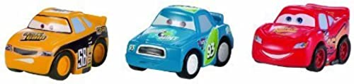 Cars Micro Drifters Classic Lightning McQueen, Octane Gain and Spare O Mint Vehicle 3-Pack by Mattel