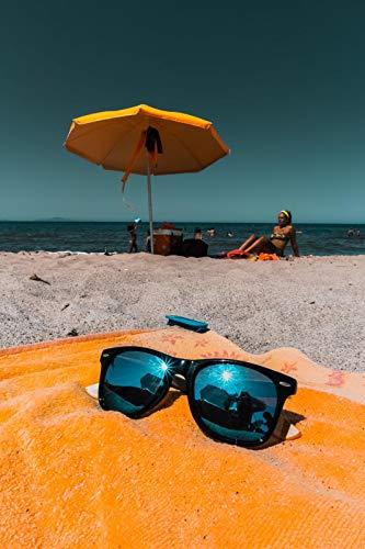 Pintura por número para adultos,kit de pintura DIY por número para principiantes o niños como regalo (16 x 20 in.) sin marco-Turistas con gafas de sol en la playa.