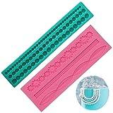 Molde de silicona para cadena de perlas decorativas para pasta de azúcar fondant 2 Piezas Perlas...