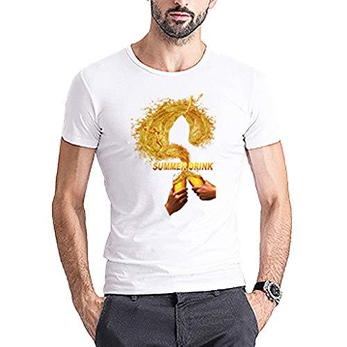 Herren Sommer Herbst T-Shirts O Ausschnitt Sport Tees Oktoberfest Bedruckt Polyester Baumwolle Trikot Workwear Gym Laufbekleidung Bodybuilding Polohemd Top (EU:42, C)