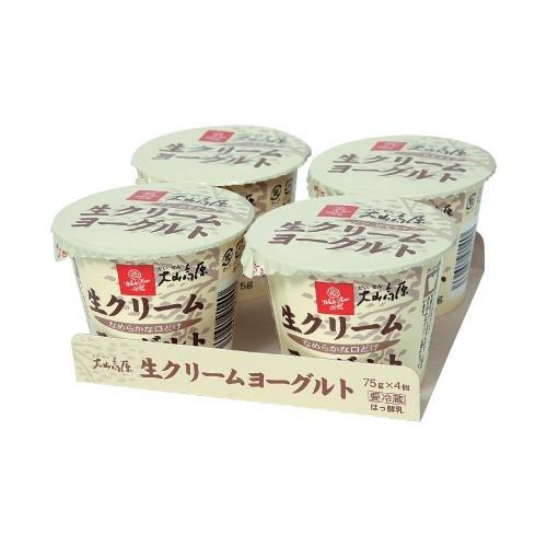 白バラ 大山高原生クリームヨーグルト/(75g×4個) ×12パック/48コ入 /クール便