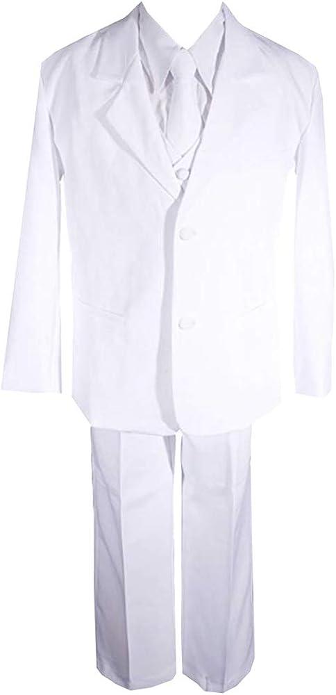 AMJ Dresses Inc Big Boys 5 Pieces Long Tie Formal Communion Suit