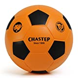 Vigoureux Chastep Foam Balle en Mousse Football Soccer Balle Rebondissante Anti Stress Enfant 20cm (Orange Noir)