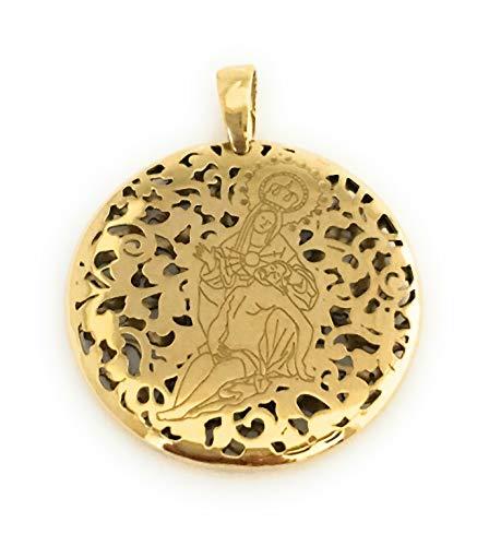 Medalla Virgen de la Caridad en Plata de Ley