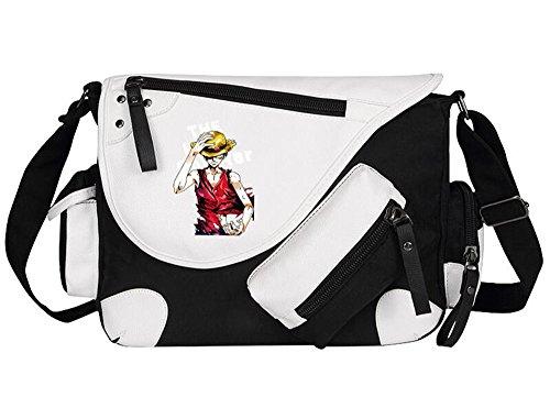 Siawasey, Handtasche / Umhängetasche / Messenger Bag, Motiv: japanischer Anime / Cosplay schwarz One Piece9