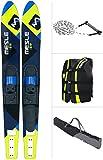 [page_title]-MESLE Combo-Ski Package XPlore 157 cm mit Weste Sportsman + Leine Combo + Tasche Universal, Wasserski für Jugendliche und Erwachsene, blau-Lime