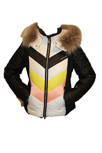 Sportalm Kitzbühel Damen Skijacke Jacke Rub Schwarz Weiß Echtfell alle Größen (38)