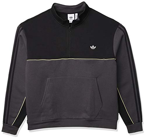 adidas Originals Men's Mod Sweatshirt, Black/Dgh Solid Grey/Yellow Tint, XS