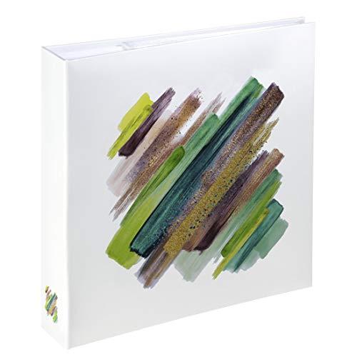 Hama Einsteckalbum (Einsteck-Fotoalbum mit 100 Seiten, Album für 200 Fotos im Format 10x15 cm) grün-weiß