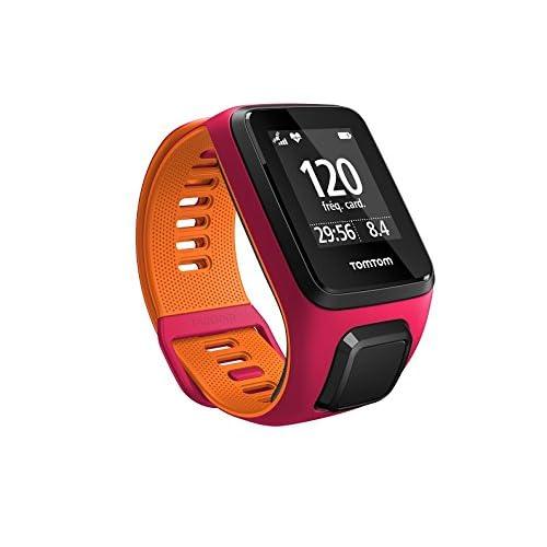 TomTom RUNNER 3 Cardio - Montre de Sport GPS - Bracelet Fin - Fushia/Orange
