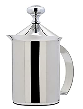 Bellemain Stainless Steel Hand Pump Milk Frother 14 oz capacity