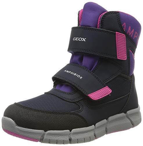 Geox Mädchen J FLEXYPER GIRL B ABX A Snow Boot, NAVY/VIOLET, 35 EU