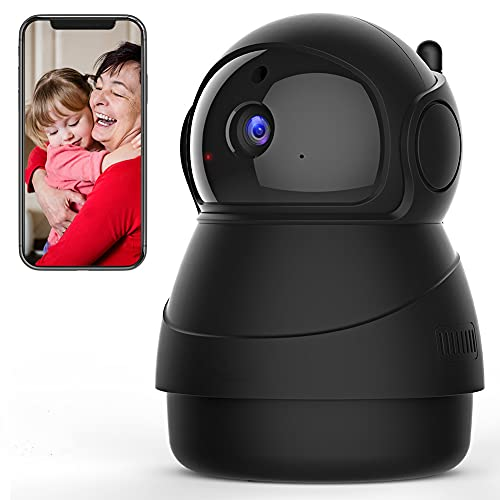 Caméra de Surveillance WiFi, 1080P Caméra WiFi sans Fil, Suivi de Mouvement de Détection de Son, Audio Bidirectionnel, Vision Nocturne Haute Définition, Carte SD/Stockage Cloud