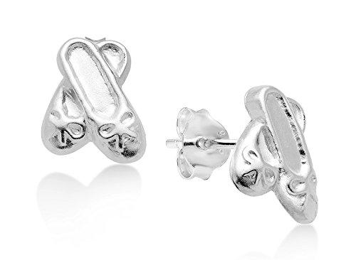 Best Wing Jewelry - Pendientes de tuerca para niños y adolescentes, plata de ley 925