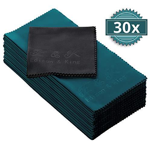 Mikrofasertücher im Vorteils-Pack – Multi-Pack extra weiche Brillenputztücher – 20 x 20 cm – waschbar (30er-Pack)