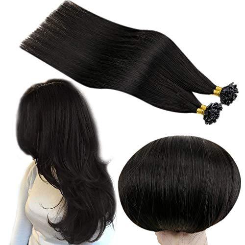 Runature U Tip Cheveux Extension Keratin 20 Pouces Couleur 1B Hors Noir 50g 50 Strand Nail Tip Extension De Cheveux Bresilien