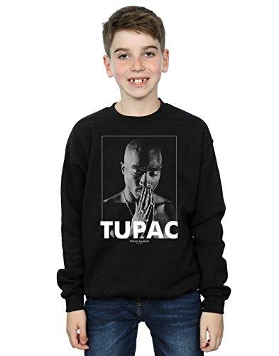 2Pac Jungen Tupac Shakur Praying Sweatshirt 9-11 Years Schwarz