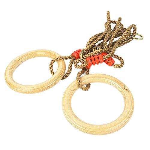 Alomejor Kinder Turnhalle Ringe Kinder Holzschaukel Ringe für Kinder Jungen Mädchen Klettergerüste und Schaukeln, Maximale Belastung 120 kg