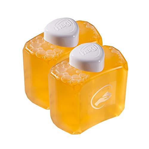 HAGI Jabón de Espuma: Recambio - para el dispensador automático de Espuma (Paquete Doble 2 × 180 ml)
