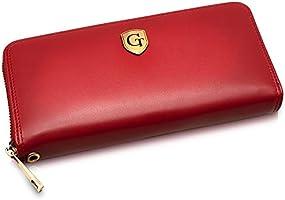 GenTo® MILAN - Portafoglio grande da donna con protezione RFID - Portafoglio XL con molti scomparti - regalo per donna -...