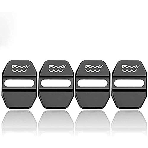 4 Piezas Acero Inoxidable Cubierta Protectora Cerradura de Puerta, para Fiat 500X Cubierta pestillos Cerradura Puerta Coche