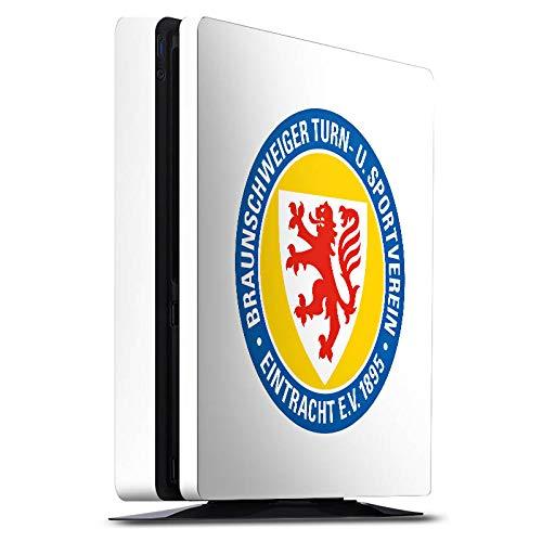 DeinDesign Skin kompatibel mit Sony Playstation 4 PS4 Slim Folie Sticker Offizielles Lizenzprodukt Eintracht Braunschweig Wappen