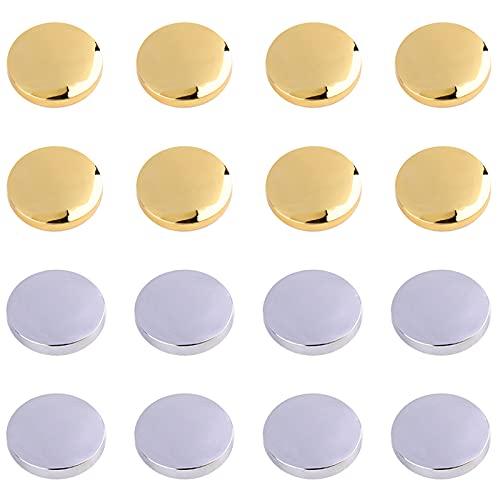 Yemiany spiegelschrauben, Zierschrauben Panelschrauben Wasserdicht und rostfrei, langlebig, geeignet zum Befestigen von Spiegeln, Couchtischen, Badezimmerpaneelen und anderen Möbeln. 16 STÜCKE (16 mm)