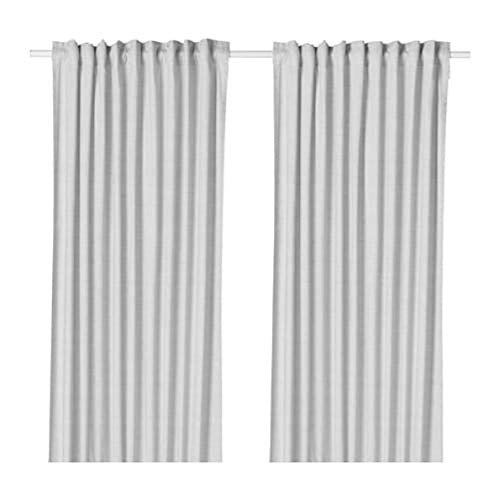 IKEA Hannalill 104.173.19 - Cortinas (1 par, 137 x 248 cm), color gris