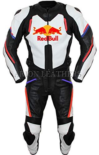 Tuta da motociclista in pelle e pantaloni redbull set prezzi all'ingrosso (M)