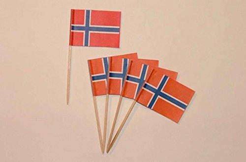 U24 Flaggen Zahnstocher Norwegen Flagge Fahne Minipicker
