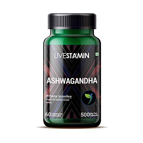 Organic Ashwagandha Vegan Capsules - 500mg Ashwaganda - 100% Natural Ayurveda Supplement 60 Day Supply