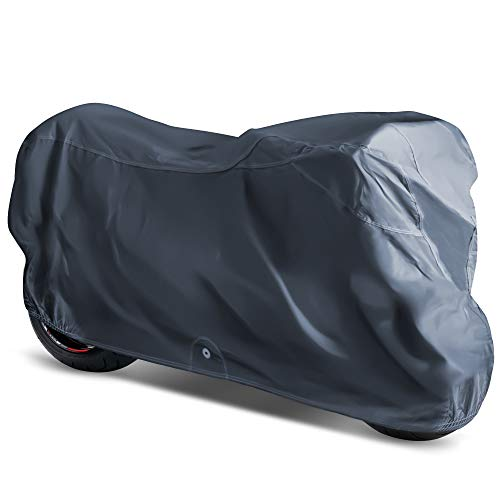OxGord Executive Storm-Proof Motorcycle Cover - Water Resistant 7 Layers - Ready-Fit / Semi Custom - Fits up to 97 Inches