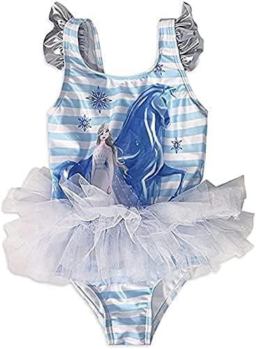 Dreamwave Frozen 2 Toddler Girl One-Piece Tutu Swimsuit (2T) Blue