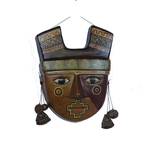 Discount Etnico - Maschere PRECOLOMBIANE in Terracotta 25 X 25 CM.