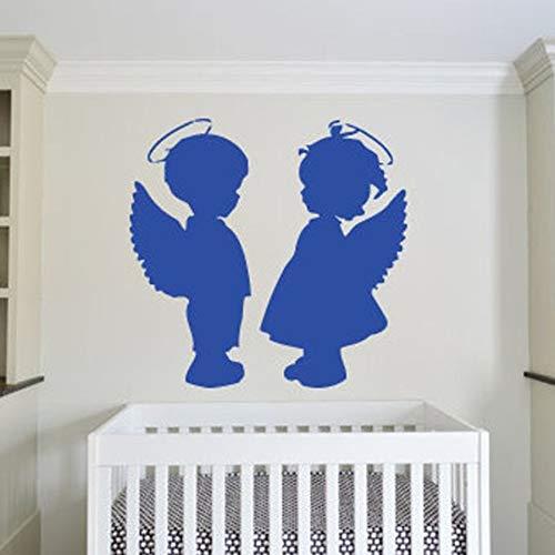 Dibujos animados representa amor alas de bebé lindo pegatinas de pared pegatinas de pared de vinilo dormitorio habitación de bebé jardín de infantes decoración de pared patrón de papel tapiz