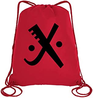 IMPRESS Drawstring Sports Backpack Red with Joker Letter X