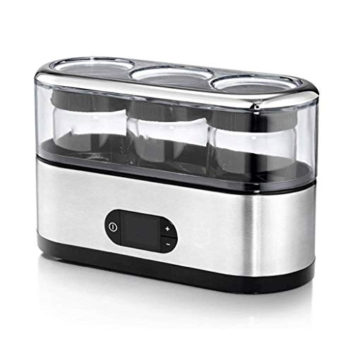Buy Discount BMMMZ Automatic Digital Yogurt Maker with 3 BPA-free Glass Jars and Lids, Time and Temp...