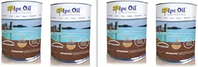 DeckWise Ipe Oil Hardwood Deck Finish, UV Resistant, 4 Cans, 1 Gallon Each by Deck Wise - Ipe Clip