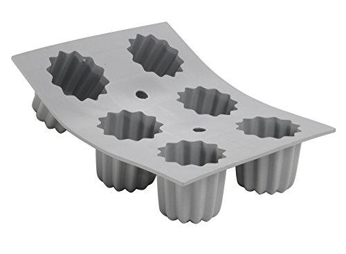 DE BUYER -1834.21D -mini elastomoule portion canele 6 emp.