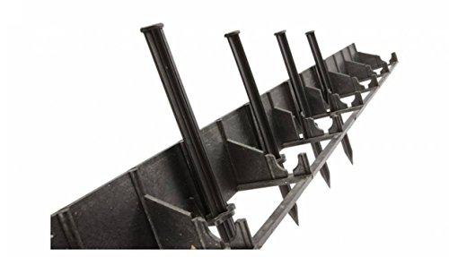 GalaBORDER Rasenkante Beeteinfassung Beetumrandung Raseneinfassung Pflastersteine Mähkante (4.5cm) inkl. 6 Nägel pro Meter (45 mm)