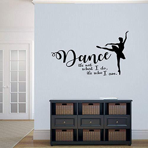Pegatina Pared Papel Pintado 42X71 cm Bailar No Es Lo Que Yo Hago Es Quien Soy Vinilo Ballet Bailarina Chicas Dormitorio Bailarina