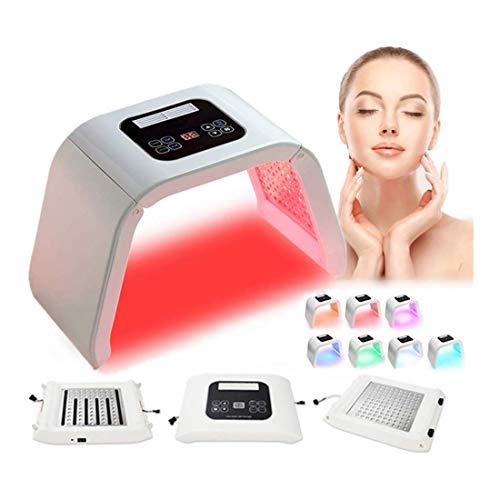 GXLO LED Visage Masque Luminothérapie Thérapie Machine, avec Protecteur Œil Lunettes, Peau Soins Rajeunissement Dispositif Retirer Place Anti-Rides Anti-âge Beauté Équipement,4Color