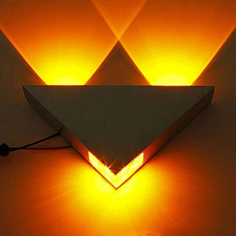 NHX Wandlampe Moderne Mode LED 3 Watt Aluminium Krper Dreieck Wandleuchte Für Schlafzimmer Home Beleuchtung Multi Farbe Wandleuchten Badezimmer Leuchte Wandleuchte,G