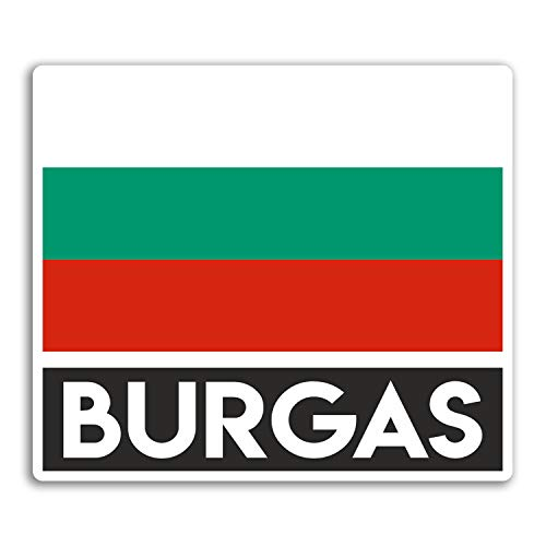 2 x 10cm Burgas Bulgaria Vinyl Stickers - Travel Sticker Laptop Luggage #33040 (10cm Wide)